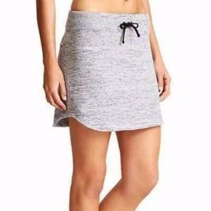 Athleta knit Downplay heathered gray mini skirt